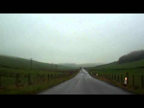 Rainy October Drive Rural Perthshire Scotland