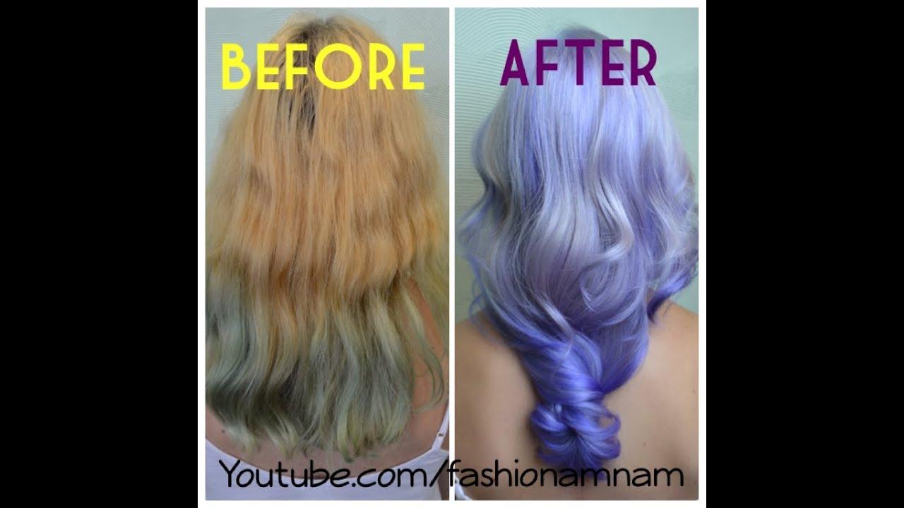 Nam Nguyen , Kelly Osbourne inspired Balayage Ombre [how to purple hair]