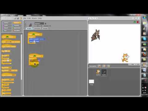 how to make characters appear on scratch