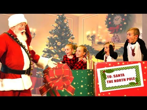 We Mailed Ourselves to Santa Claus! (skit) We Snuck Into Santa's Christmas Toy Bag!