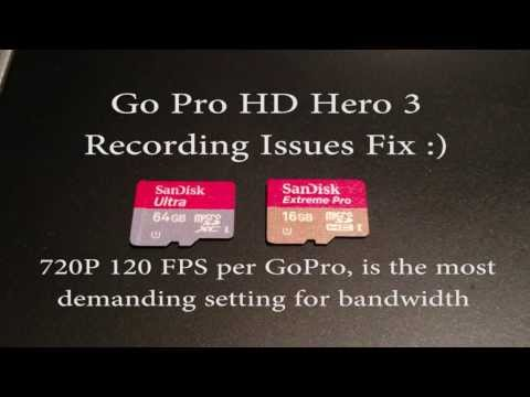 GoPro HD Hero 3 Black Edition Intermittently stops recording fix
