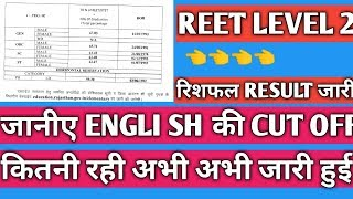 Reet Level 2 रिशफल result  और वेटिंग जारी,कितना रहा English subject  का reshuffle result