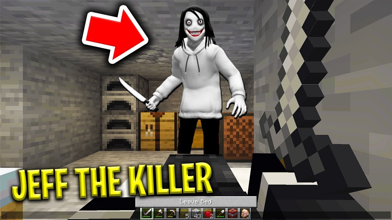 JEFF THE KILLER BREAKS INTO MY BASE IN MINECRAFT! (Scary Minecraft Video)