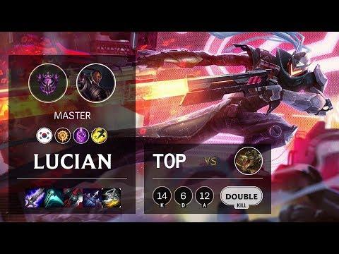 Lucian Top vs Renekton - KR Master Patch 10.9