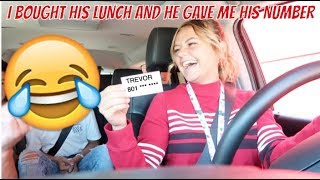 PAYING FOR THE PERSON BEHIND ME | HE GAVE ME HIS NUMBER  | KESLEY LEROY