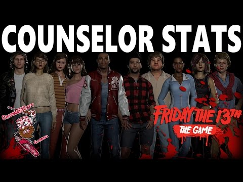 Friday the 13th: The Game | Official Counselor Stats Revealed | Breakdown