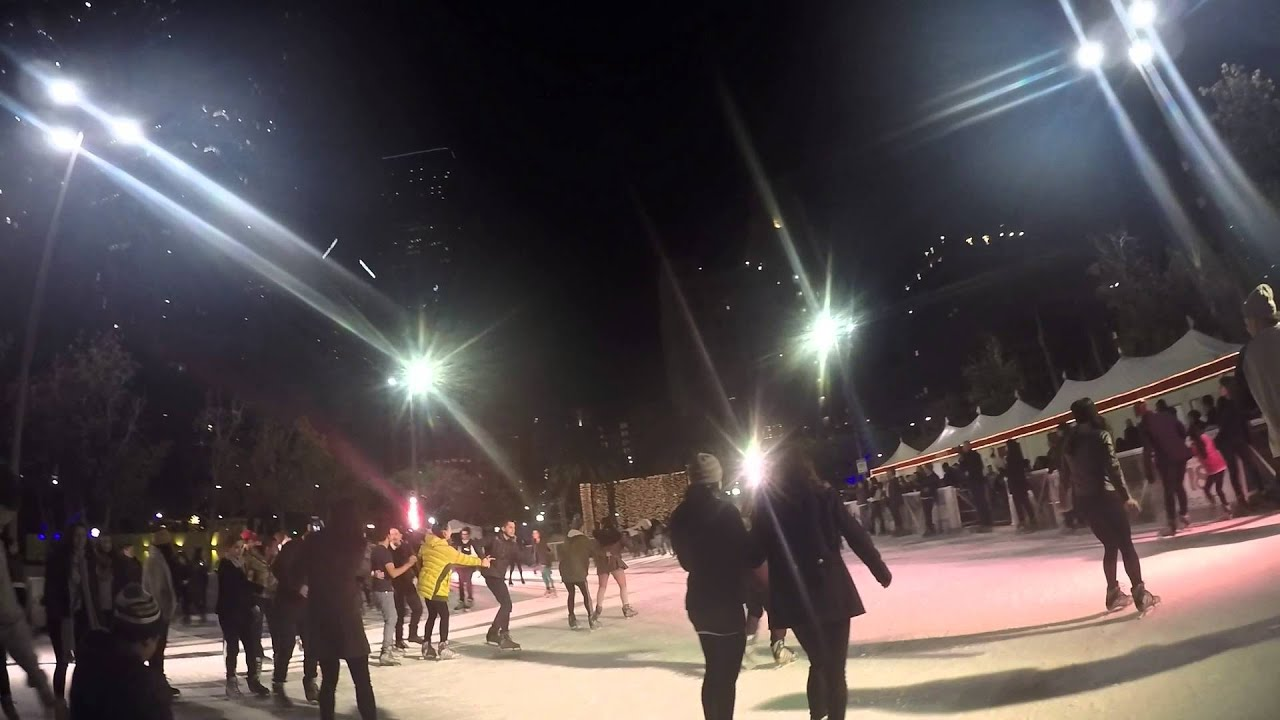 ice skating at pershing square downtown los angel youtube. Black Bedroom Furniture Sets. Home Design Ideas