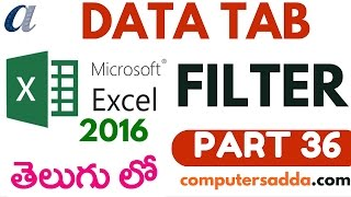 Ms-Excel 2016 in Telugu 36(Filter Option) (www.computersadda.com)