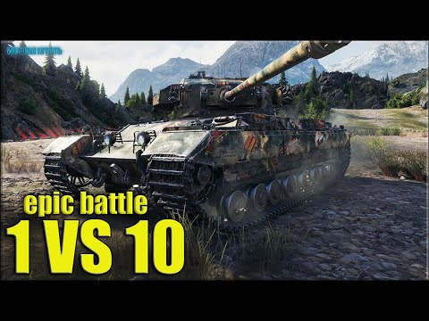 Caernarvon против ДЕСЯТЕРЫХ 😬 World Of Tanks лучший бой тт Британии 8 лвл