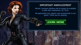 Goodbye to Marvel: Avengers Alliance (The Game is Officially Over...)