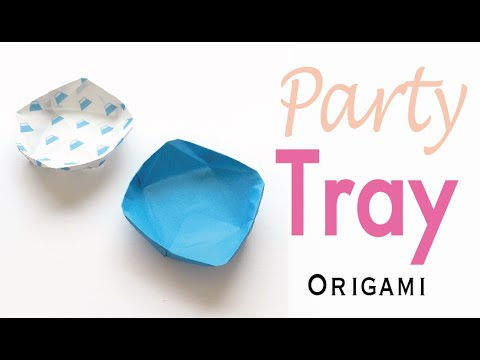 Party Tray (Small Plate) ✨Origami Paper DIY✨ - Origami Kawaii〔#165〕