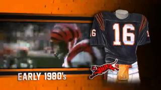 Cincinnati Bengals uniform and uniform color history