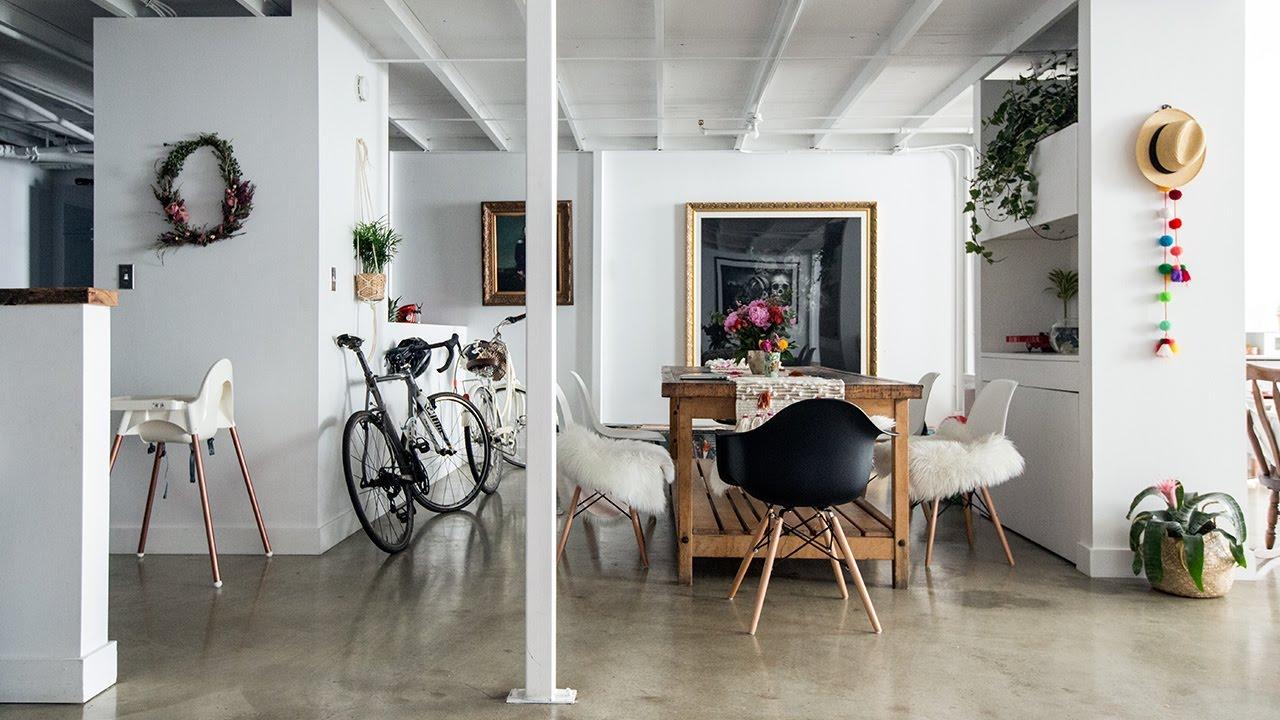 Interior Design — A Floral Designer\'s Cool Creative Loft - YouTube