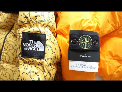 The North  Face Nuptse 1992 Vs Stone Island Garment Dyed AW17  Jacket Wars