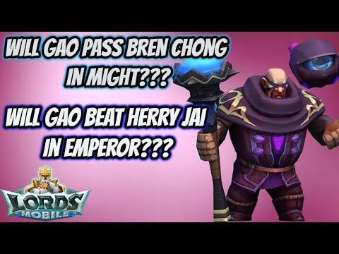 Lords Mobile - Will Gao Beat Bren Chong And Herry Jai?