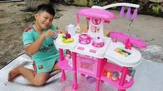 Trò Chơi Nhà Bếp Hiện Đại ❤ ChiChi ToysReview TV ❤ Đồ Chơi Trẻ Em Bé Doli Nấu Ăn