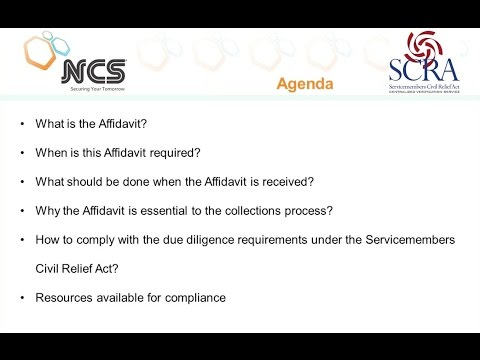 The Military Affidavit in the Collection Process - SCRA
