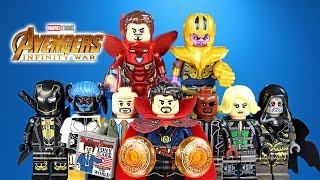Avengers Infinity War Doctor Strange Iron Man & Nick Fury Set 5 Unofficial LEGO Minifigures