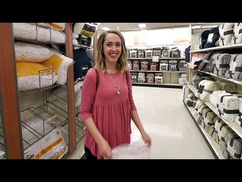 Shopping at Target - She Needed a Pillow
