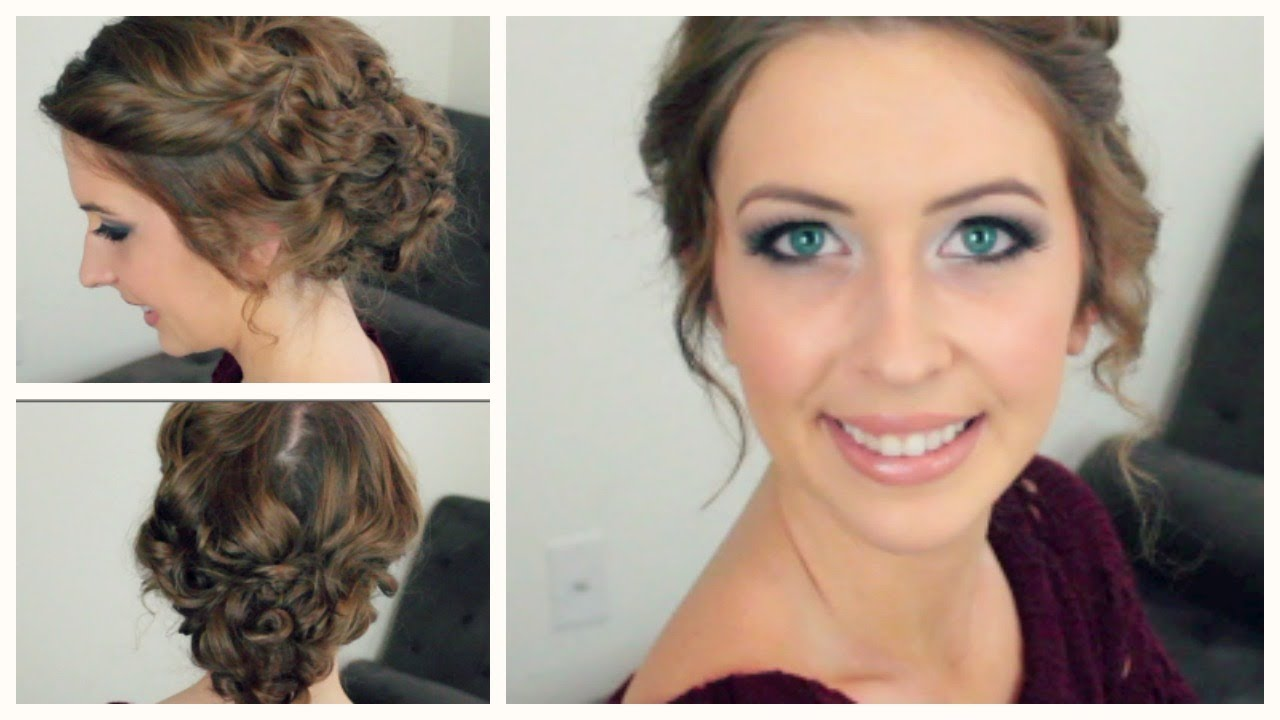 easy curly updo for any length & style of hair