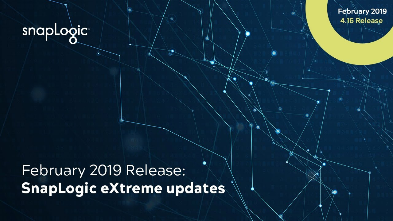 February 2019 Release: SnapLogic eXtreme updates | SnapLogic