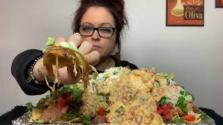 Mukbang | Homemade Loaded Taco Nachos!!! Drunk Story Time.. 💋