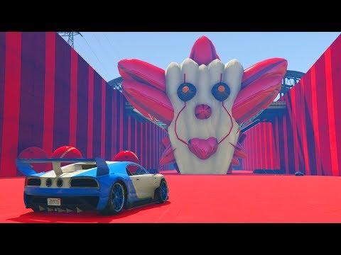 QUE MIEDO!! PAYASOS GIGANTES!!! - CARRERA GTA V ONLINE - GTA 5 ONLINE