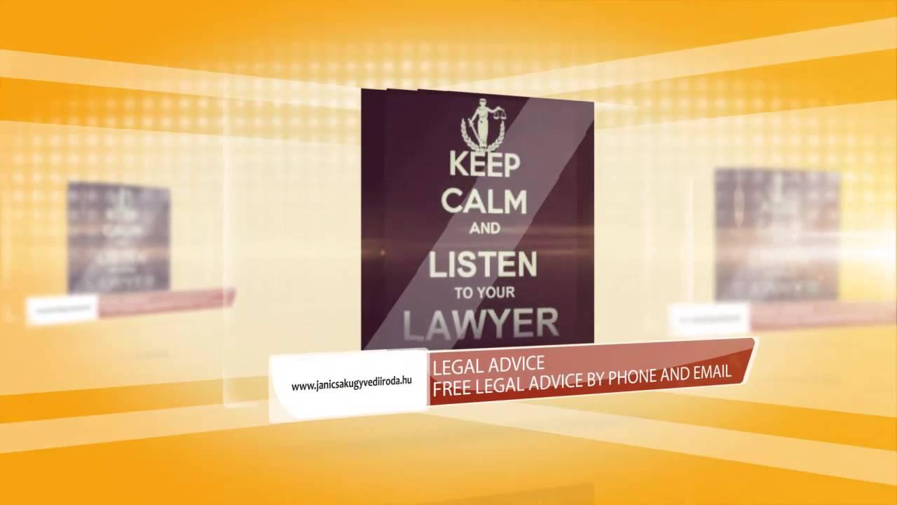Legal Advice Youtube