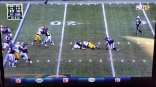 Julius Peppers #56 strip sack Packers