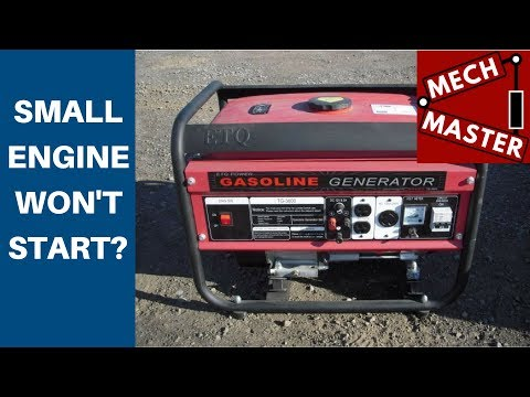 Small Engine, Generator, Won't Start Carb Clean