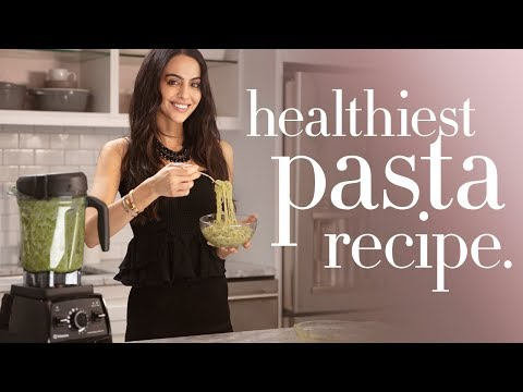 Plant Based Diet Recipes Kelp Noodles Pesto Recipe | Mona Vand