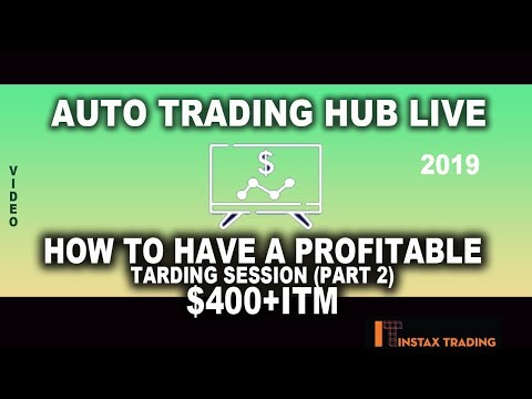 Auto Trading Hub Live Trading ~ Profitable Trading Session ~ Part 2 ~ Profit of €500+ today ~ 2019