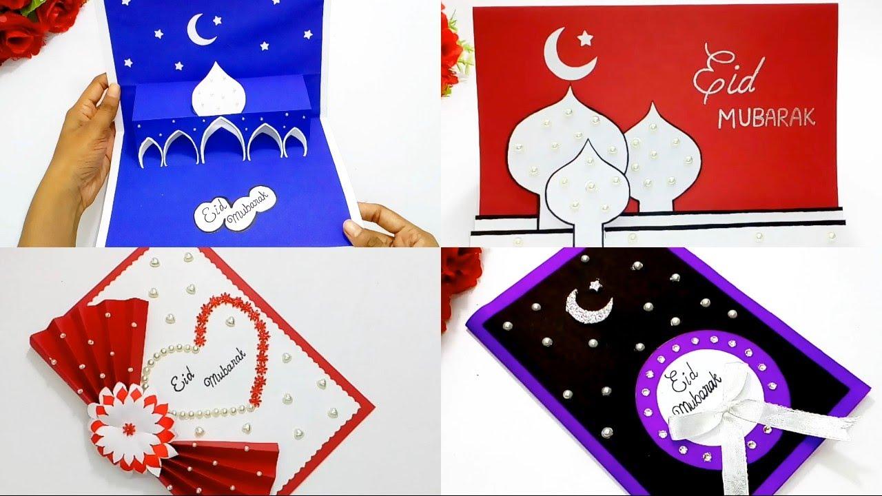 eid mubarak special greeting card how to make handmade