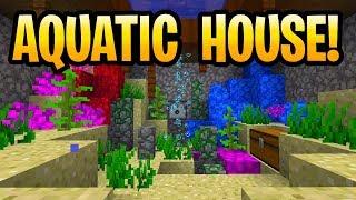 Minecraft Update Aquatic House Build! New Blocks Only! PE, Xbox One, Switch, Java & Windows 10