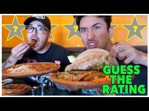 Guess The Restaurant Rating (Best or Worst Reviewed In My City) *Vegan Mexican*