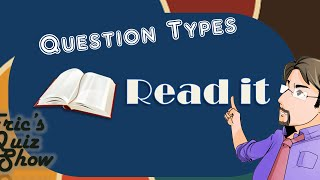 Eric's Quiz Show - Question Types - READ IT