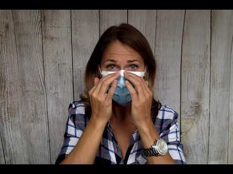 Wearing a Mask with Eyeglasses - without fogging up!