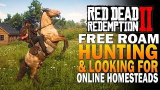 Free Roam, Hunting, Robbing & Checking Out Homesteads - Red Dead Redemption 2 Gameplay [4K RDR2]
