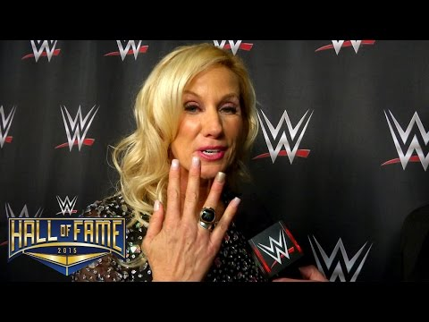 Alundra Blayze reacts after her WWE Hall of Fame induction speech: March 28, 2015