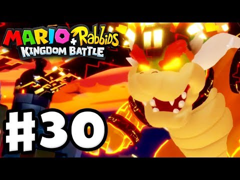 Mario + Rabbids Kingdom Battle - Gameplay Walkthrough Part 30 - Perfect Megadragon Bowser Boss Fight