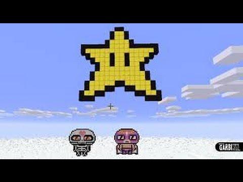 Minecraft 3 Pixel étoile De Mario Youtube