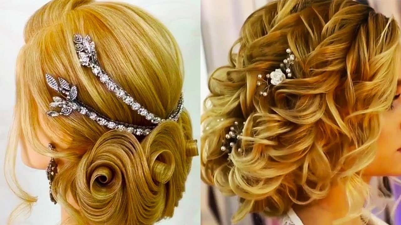 10 Beautiful Updo Hairstyles For Weddings 2019: Top 10 Wedding Hairstyle For Bridal 😍 Amazing Beautiful