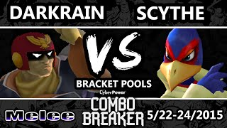 Combo Breaker - Darkrain (Captain Falcon) Vs. Scythe (Falco, Falcon) SSBM Pools WF - Smash Melee