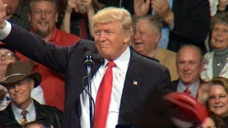"""President-elect Donald Trump hold """"Thank You"""" rally in Iowa"""