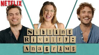 Millie Bobby Brown, Henry Cavill, & Sam Claflin Play Anagrams   Enola Holmes   Netflix