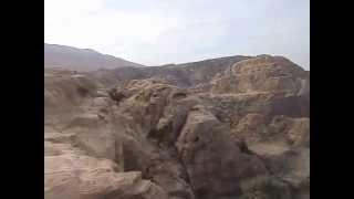 中東ペトラ遺跡周辺