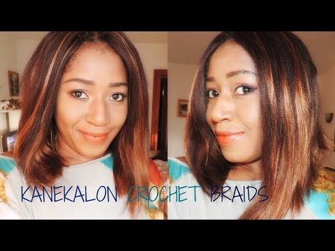 Crochet Braids With Xpressions Kanekalon Hair : XPRESSION/KANEKALON CROCHET BRAIDS - YouTube