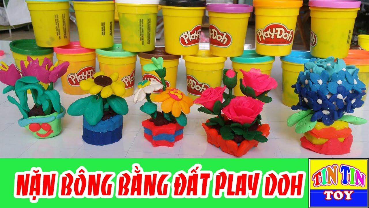 ♥♥ Làm bông hoa bằng đất nặn ♥♥ Đồ chơi trẻ em, đất nặn Play Doh – DIY – TIN TIN TOY