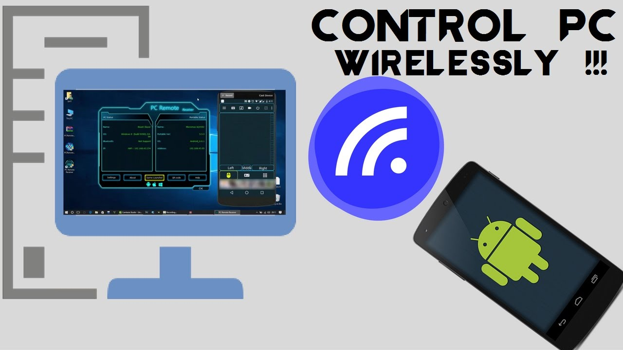 How to control your PC via Android wirelessly !!! [Monet PC Remote]