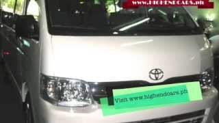 2013 TOYOTA HIACE 15 SEATER HIGHROOF DIESEL PHILIPPINES WWW.HIGHENDCARS.PH